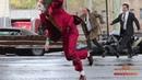 Joaquin Phoenix in Joker Costume Filming Dangerous Scene