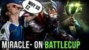 Miracle- on Tier 8 Battlecup Hard Practice for TI8 with favourite teammate gh 😍 - Dota 2