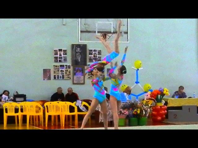 Спортивная акробатика. Выступление Оли.