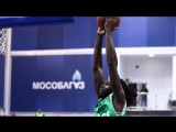 Maurice Ndour Gets The Block on One End Then Runs Back For The Slam