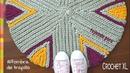 Alfombra redonda de TRAPILLO tejida en crochet XL en punto tricot Tejiendo Perú