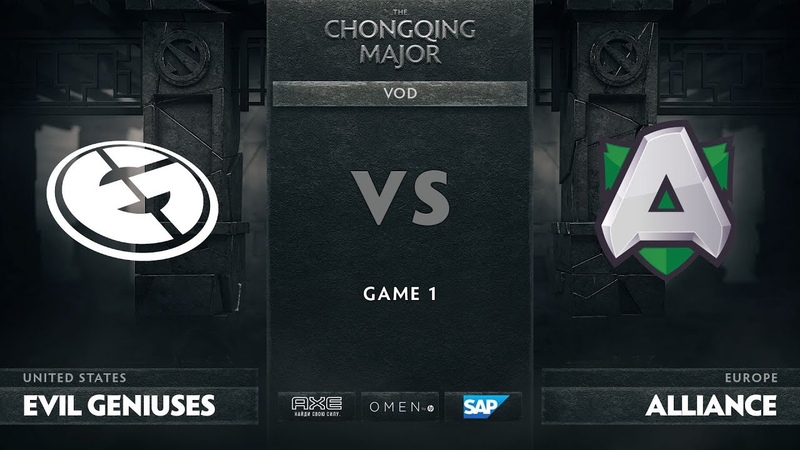 Evil Geniuses vs Alliance - Game 1, Group D - The Chongqing Major 2019