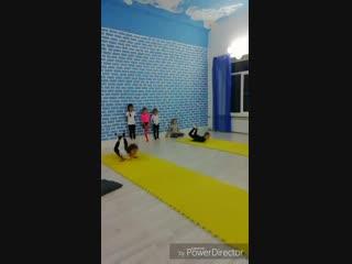 Занятие по акробатике с Ольгой Сергеевной