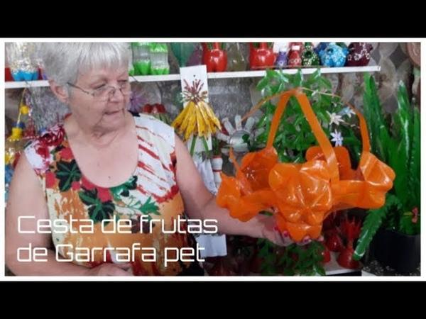 Cesta para frutas de Garrafa pet   Vó Neide e suas pets
