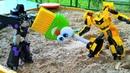 Роботы трансформеры Автоботы обнаружили базу Десептиконов Видео на английском языке