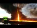 Enorme tornado de fuego arrasa una fábrica en Reino Unido