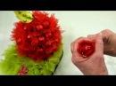 Оформление конфетки в композиции Яблоко.