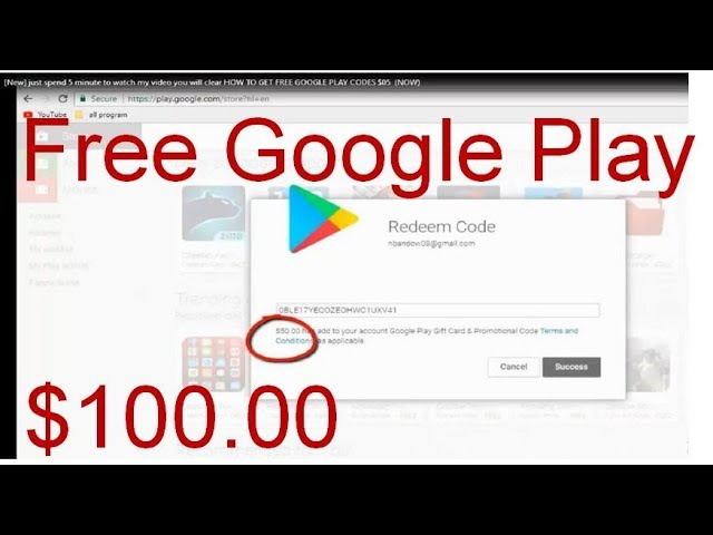 New just spend 5 minute to watch my video you will clear HOW TO GET FREE GOOGLE PLAY CODES $50 NOW