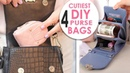 ~WOW~ DIYs PURSE BAG EVER 5~10 MIN MAKING Cute Pouch Phone Case Tutorial