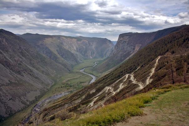Открыточный вид перевала Кату-Ярык.