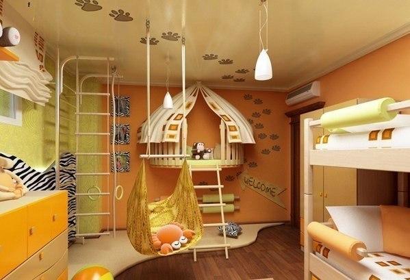 Детские игровые комнаты для дома