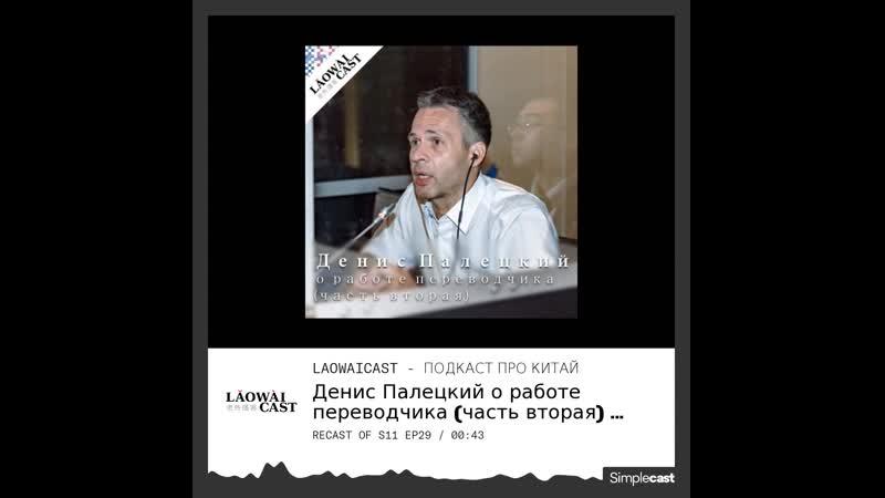 Laowaicast 228 Денис Палецкий о работе переводчика часть вторая