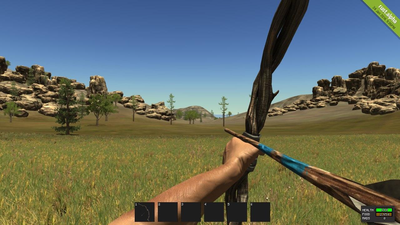 Как выглядит Hunting Bow в Rust