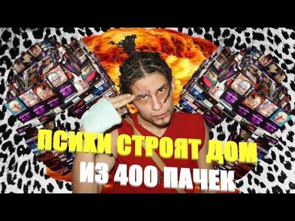ПСИХИ СТРОЯТ ДОМ ИЗ 400 ПАЧЕК
