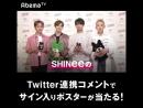 SHINee新曲発売記念 特番 - 11日夜11時サマステ 音楽LIVE - 18日夜11時密室の東京ドライブ - - 各番組で1名様ずつに SHINee サイン入りポスター -