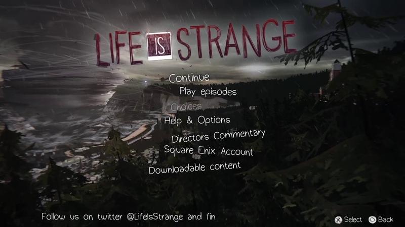 Life Is Strange - Main Menu (Storm)
