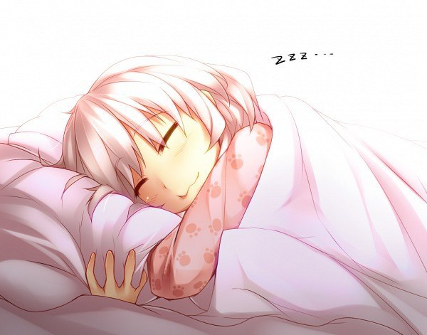 аниме девушка спит: