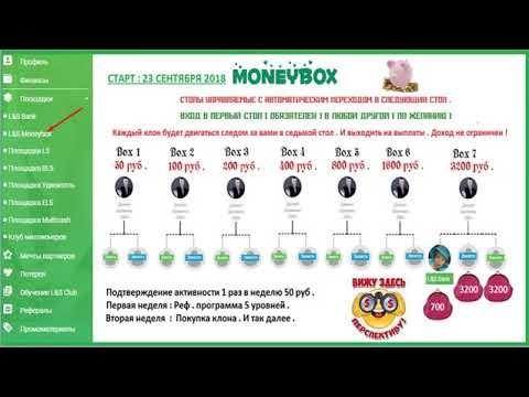 Наша социальная площадка MONEYBOX, которая ведёт на высоко доходную площадку БАНК