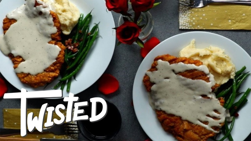 Chicken Fried Steak Dinner For Two Valentine's Day Dinner Date Night Meals Twisted