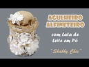 Lata de Leite Agulheiro/Alfineteiro Estilo Shabby Chic (ARTESANATO, DIY, RECICLAGEM)
