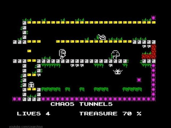 Cave Raider Walkthrough, ZX Spectrum