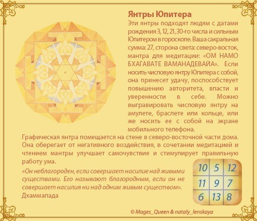 Янтра Юпитера