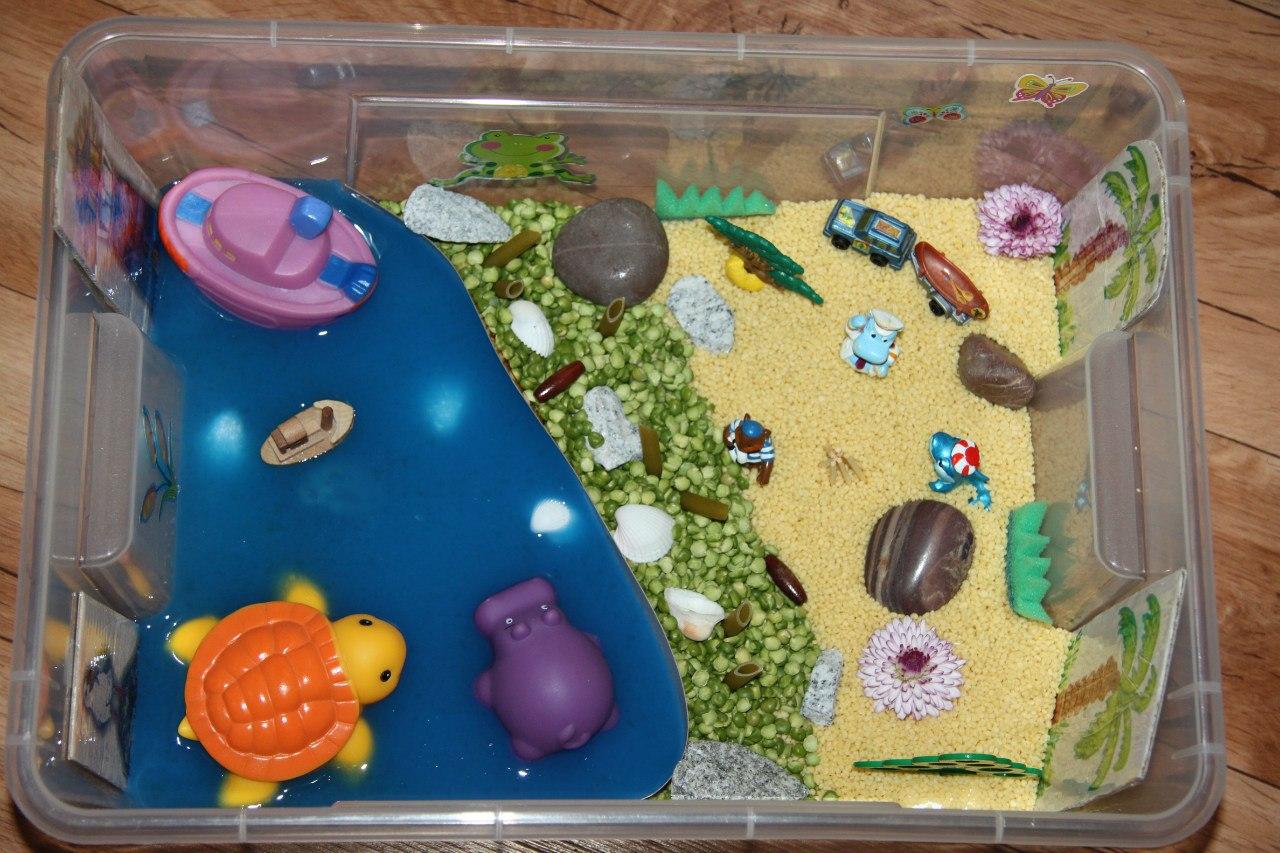 Тематические сенсорные коробки для детей (Ферма, Африка) 57