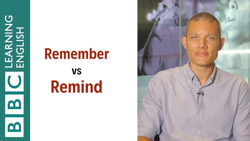 Remember vs remind English In A Minute