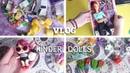 Vlog Разбираю Киндеры Как я храню LOL Новая кукла Барби