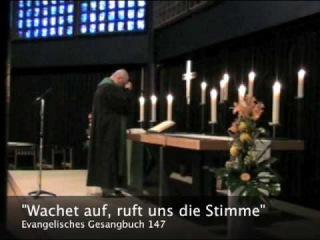 """Charlottenburg: Choral """"Wachet auf, ruft uns die Stimme"""", Evangelisches Gesangbuch 147"""