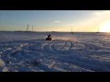 Квадроцикл Stels ATV 800 D гонят по снегу!