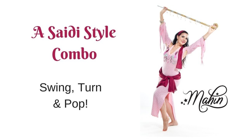 Belly Dance Combo with Cane: Saidi Swing, Turn Pop
