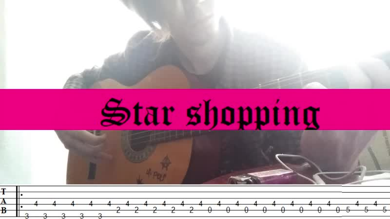 PART 2 Tutorial of 10 Lil Peep's songs on the guitar with TABs on SCREEN