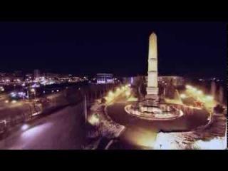 Монумент дружбы ночные съемки с воздуха / Friendship Monument night aerial video