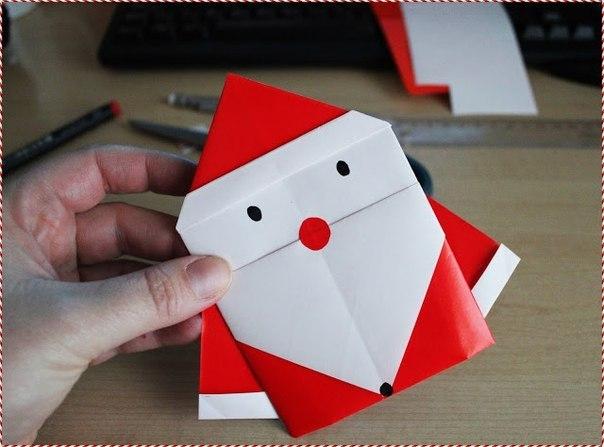 Как сделать из бумаги на новый год деда мороза