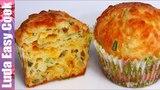 (https://vk.com/lakomkavk) Отличный ЗАВТРАК или ПЕРЕКУС для всех! Самые СЫРНЫЕ МАФФИНЫ простой рецепт!   Cheese Muffins Recipe