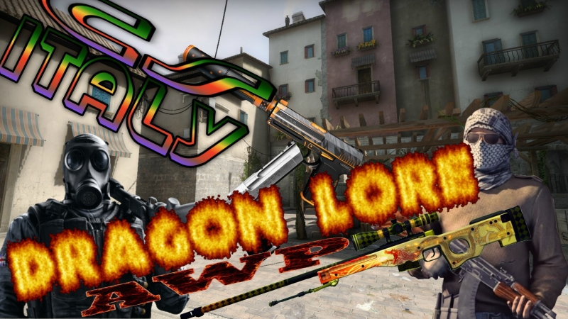 AWP Dragon Lore | USP | Shock | Italy map cs | Simferopol Server | by Turner