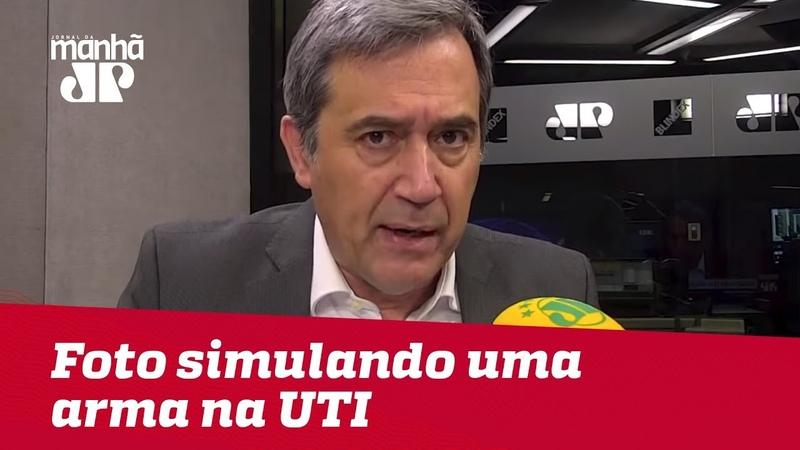 Bolsonaro não pode tirar uma foto simulando uma arma na UTI de hospital | Marco Antonio Villa