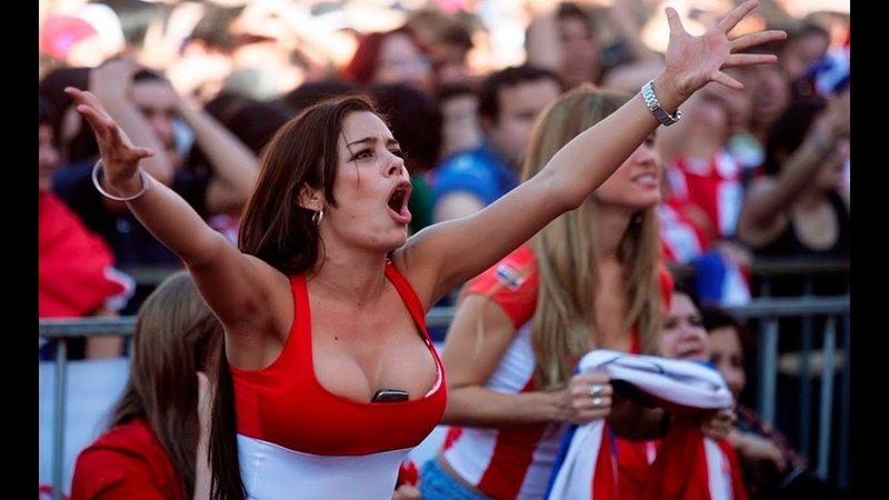 GIRLS AND FANS OF THE FIFA World Cup. Female Fans Football Russia 2018