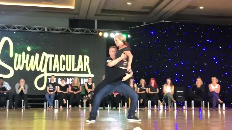 Swingtacular 2018 Champions JnJ Kyle Redd Tatiana Mollmann 1st Place