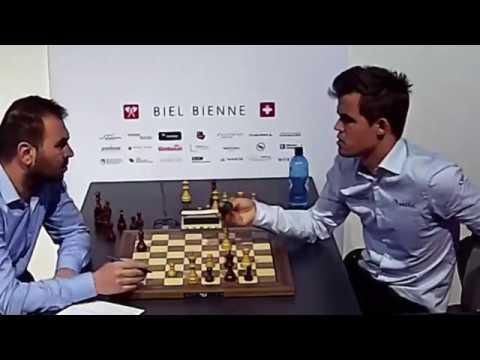 BIG BLUNDER ENDGAME!! Magnus Carlsen LOSE Mamedyarov || Biel chess 2018 - Round 9