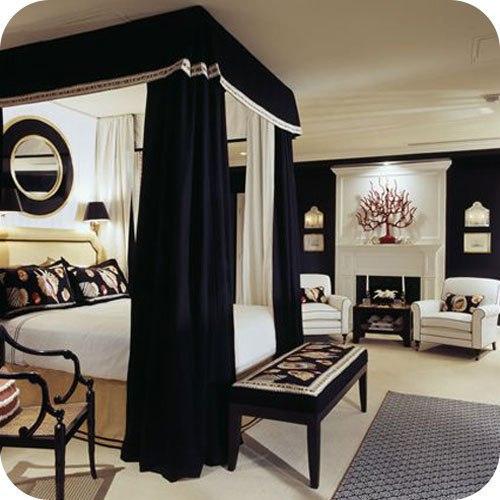 Спальня в черных тонах фото