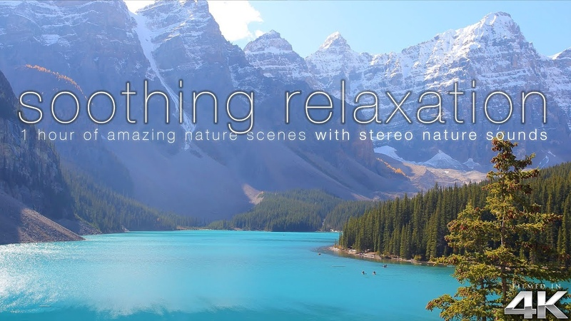 SOOTHING RELAXATION 200 Amazing Nature Scenes in 4K (w/Pure Nature Sounds) Ambient Film