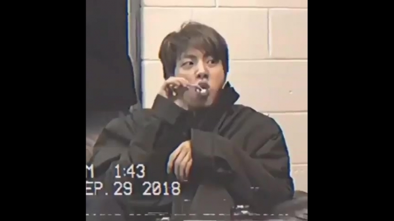 When Seokjin was brushing his teeth but he was moving his head instead of the toothbrush Namjoon imitated him and cutely laughe