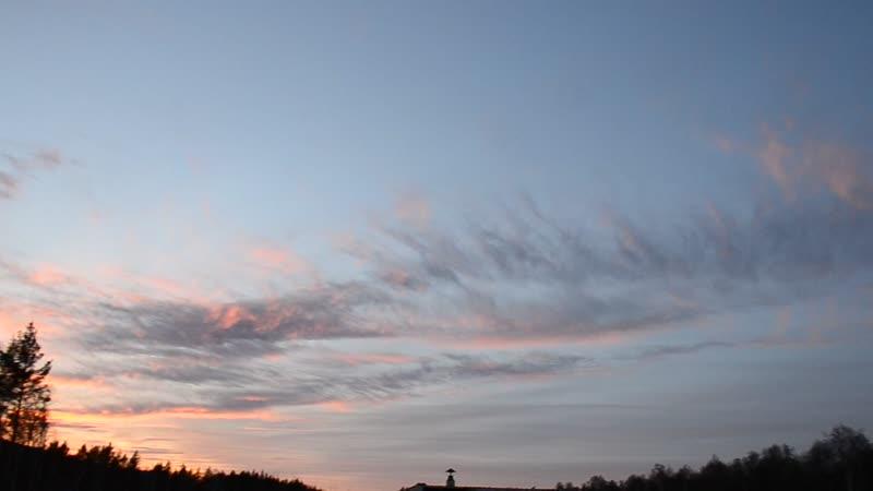закат и краски небесной красоты
