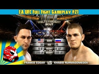Frankie Edgar vs Khabib Nurmagomedov Full Fight | EA Sports UFC 2014 Gameplay (Xbox One)
