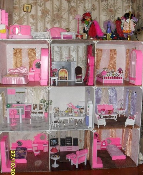 Как сделать мебель для кукол для барби