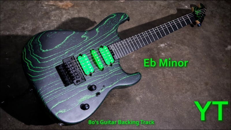 80s Guitar Backing Track Eb Minor