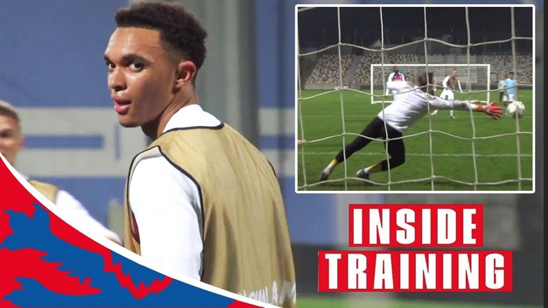 Top Saves Silky Skills: Up-Close View Of England Training Game | Inside Training