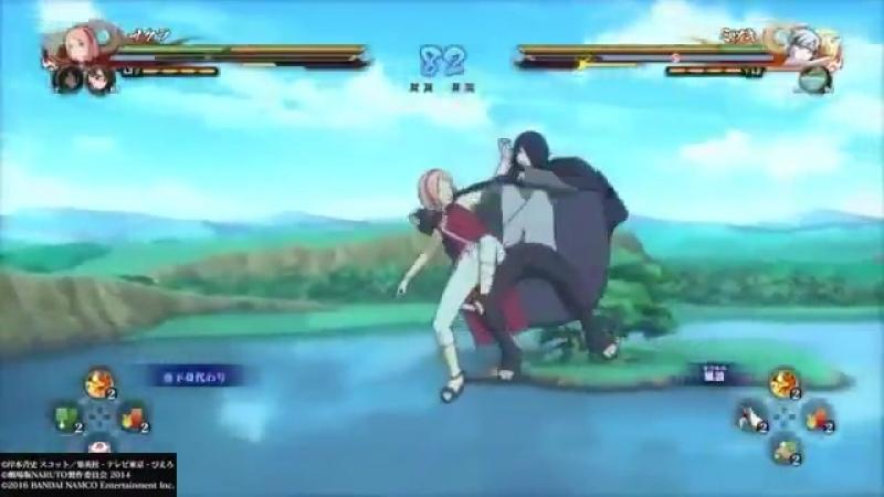 Саске помогает Сакуре:з